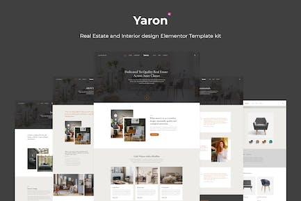 Yaron - Real Estate & Interior Design Elementor Template kit