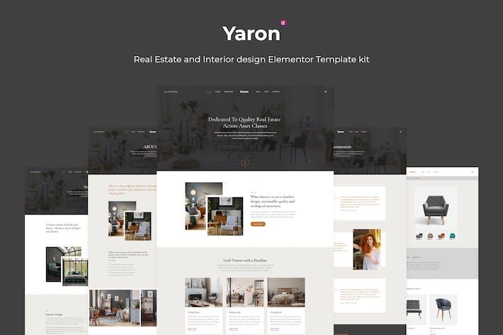 Thumbnail for Yaron - Real Estate & Interior Design Elementor Template kit