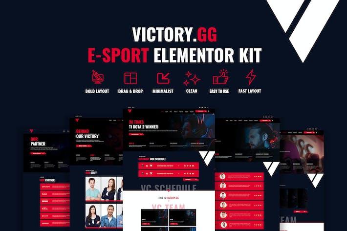 Sieg - Esports & Gaming Elementor Template Kit