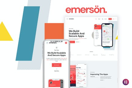 Emerson — App & Software Showcase Elementor Template Kit