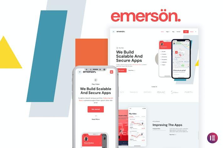 Emerson — Template Kit Elementor de Aplicación y software