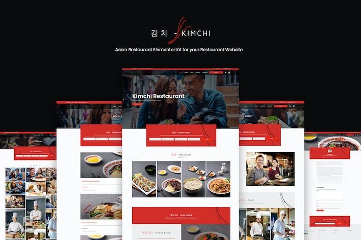 Kimchi - Asian Restaurant & Cafe Elementor Template Kit