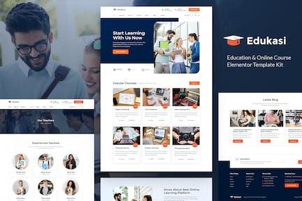 Edukasi – Education & Online Course Elementor Template Kit