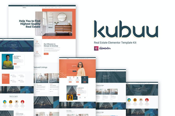 Kubuu - Immobilien Elementor Template Kit