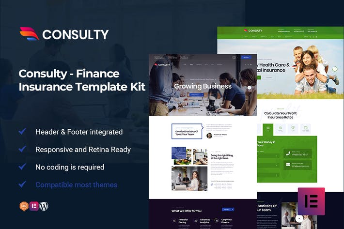 Thumbnail for Consulty - Finance Consulting Elementor Template Kit
