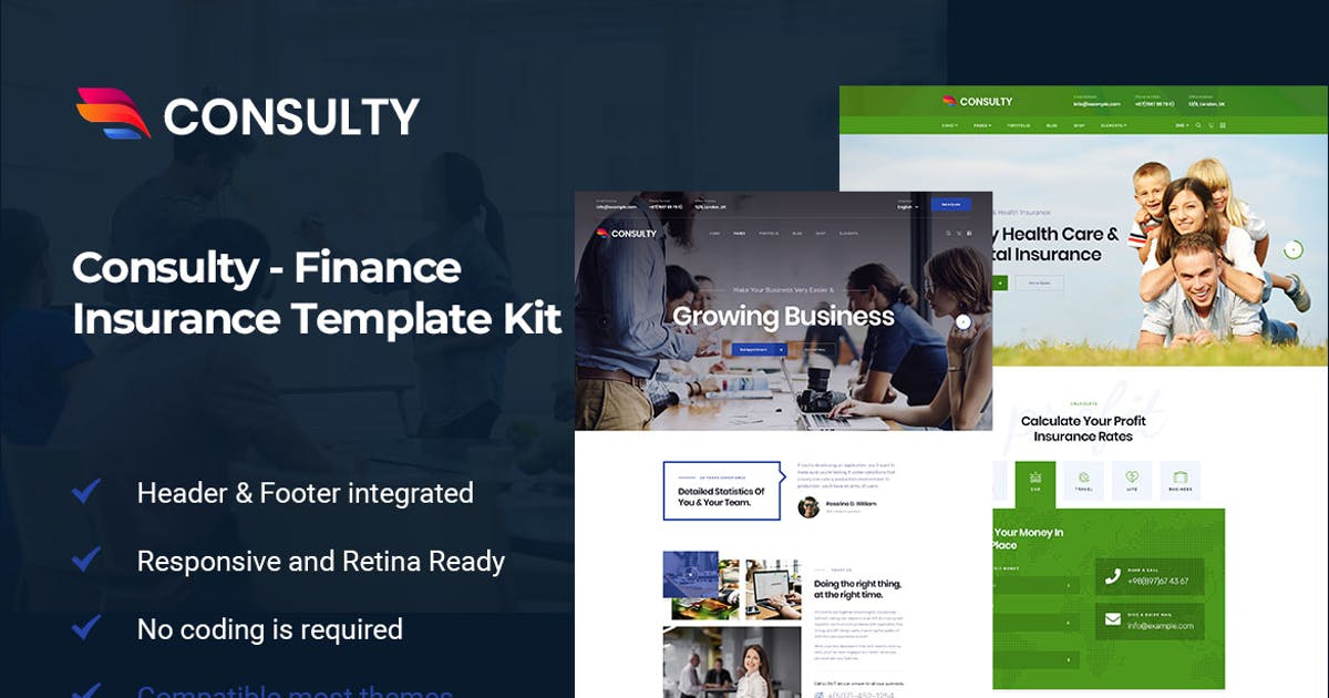 Download Consulty - Finance Consulting Elementor Template Kit by themesflat