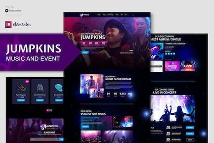 Jumpkins - Music & Event Elementor Template Kit