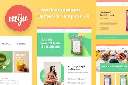 Miju - Conscious Business Elementor Template Kit