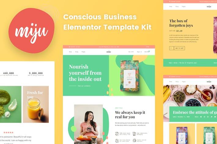 Miju - Template Kit für bewusste Business Elementor