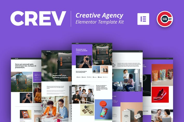 Thumbnail for Crev -  Creative Agency Elementor Template Kit