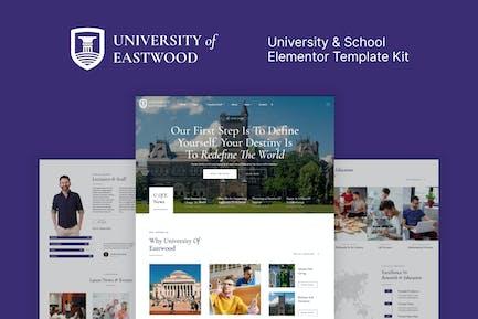 Eastwood – University & School Elementor Template Kit