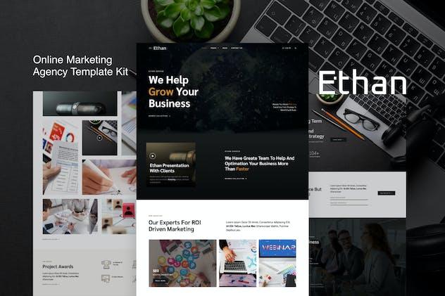Ethan – Online Marketing Agency Elementor Template Kit