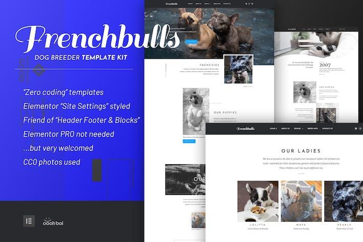 Thumbnail for Frenchbulls - Dog Breeder Elementor Template Kit