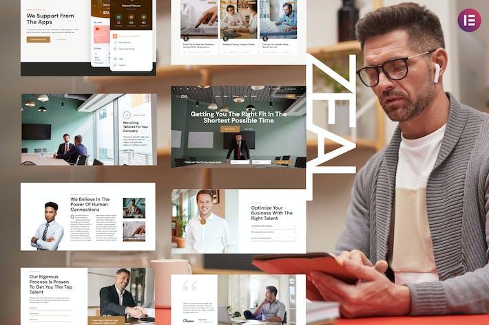 Zeal — Template Kit Elementor de la Agencia de Reclutamiento y Consultor de Recursos Humanos