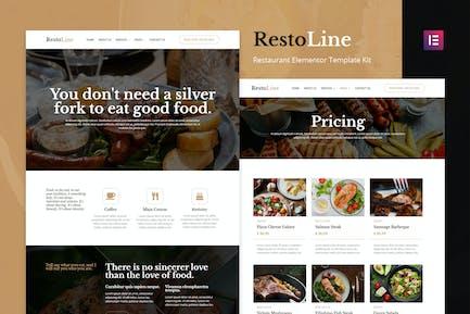 Restoline - Restaurant Elementor Template Kit