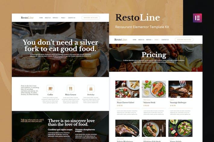 Restoline - Template Kit restaurante Elementor