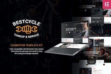 Bestcycle | Bicycle Repair & Service Elementor Template Kit