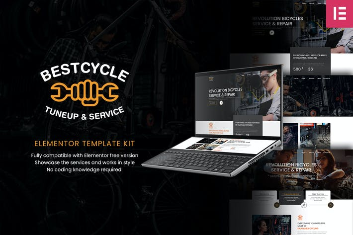 Thumbnail for Bestcycle | Bicycle Repair & Service Elementor Template Kit