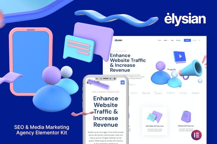 Thumbnail for Elysian – 3D Style SEO Agency Elementor Kit