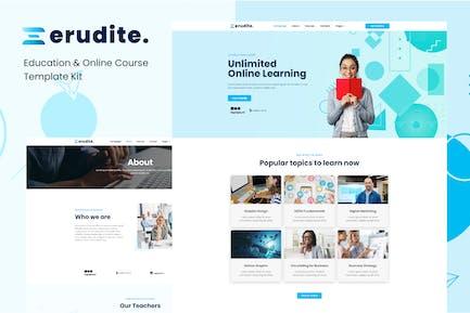 Erudite - Education & Online Course Elementor Template Kit