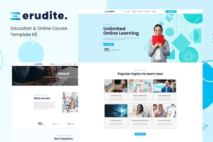 Thumbnail for Erudite - Education & Online Course Elementor Template Kit