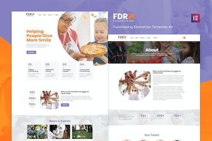 FDR - Template Kit Elementor de Recaudación de Fondos