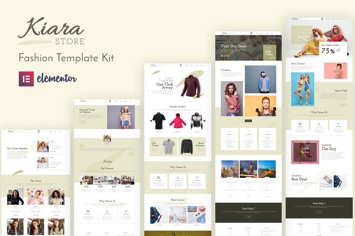 Kiara - Fashion Elementor Template Kit