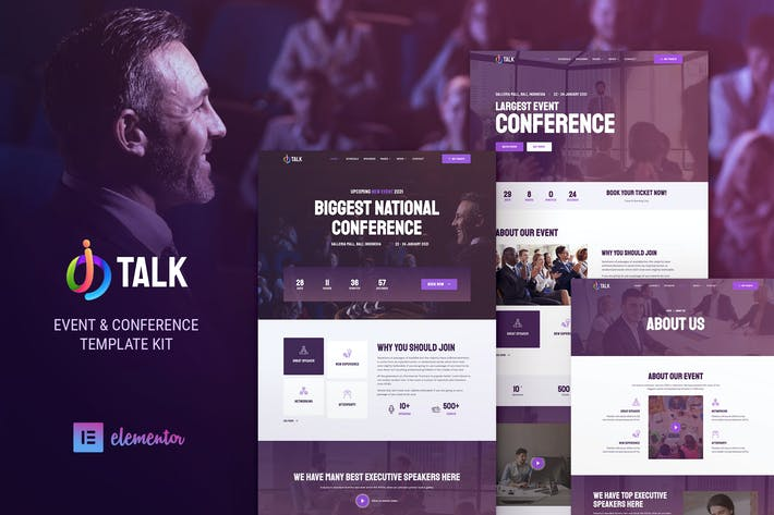 iTalk – Event & Conference Elementor Template Kit