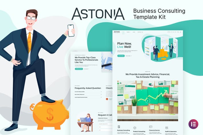 Thumbnail for Astonia - Business Consulting Elementor Template Kit
