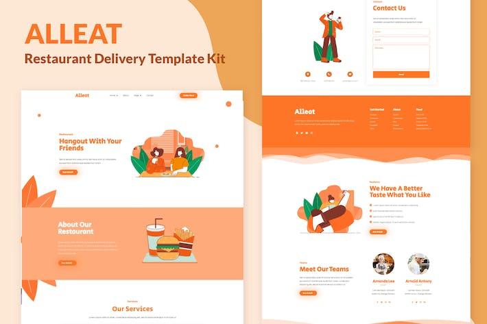Thumbnail for Alleat - Restaurant Elementor Template Kit