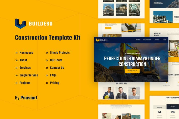 Buildeso | Construction Elementor Template Kit it