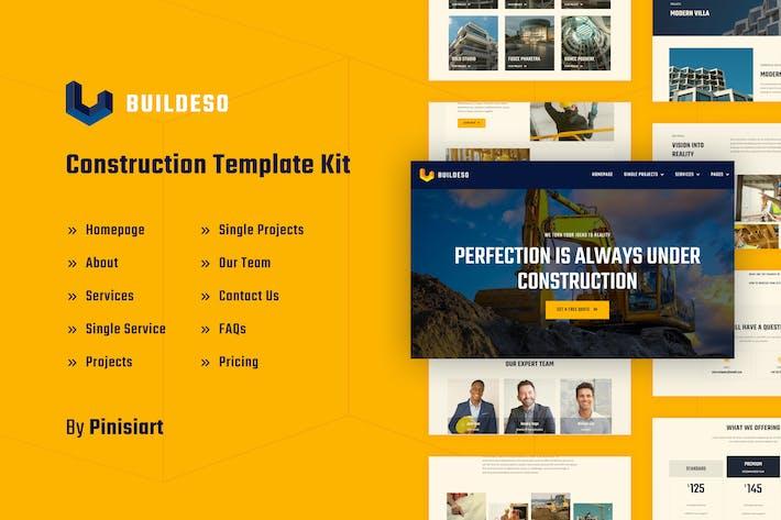 Thumbnail for Buildeso | Kit de Template Elementor de Construção