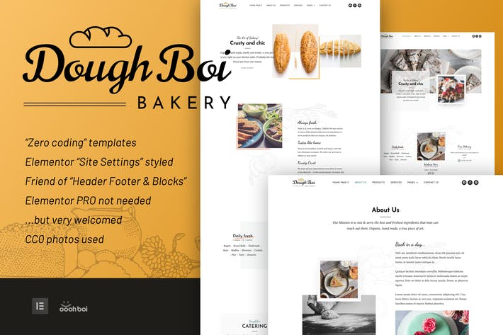 DoughBoiBakery - Bakery Cakery Elementor Template Kit