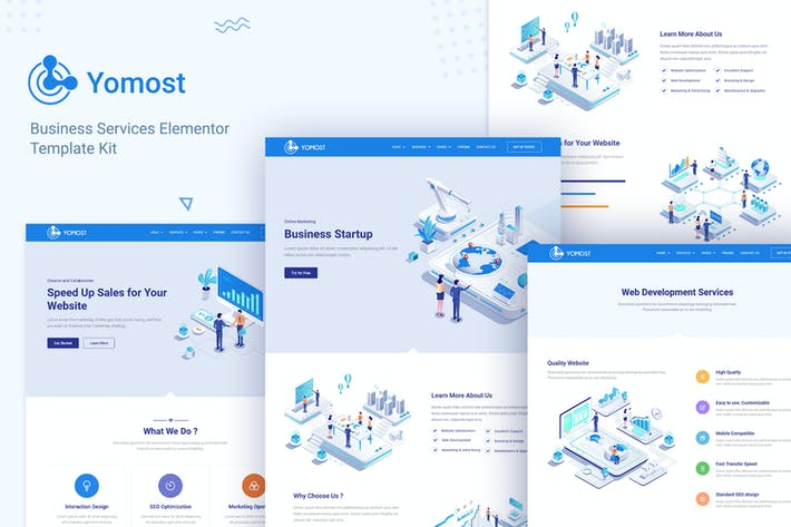 Yomost - Business Services Elementor Template Kit