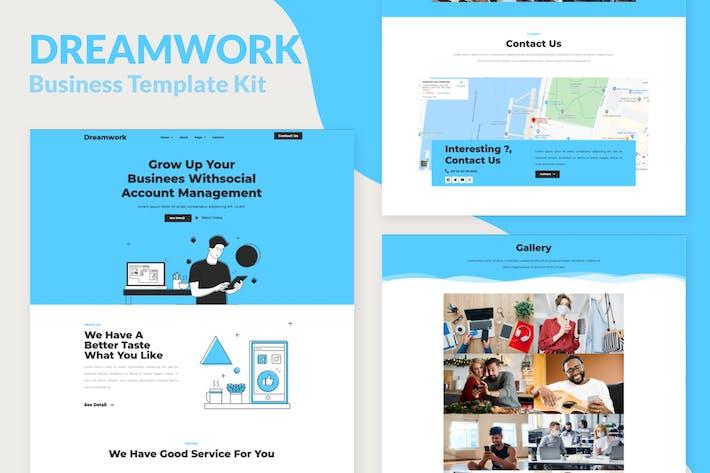 Thumbnail for Dreamwork - Template Kit Elementor de Gestão Empresarial