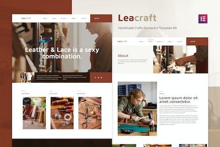 Leacraft - Handmade Crafts Elementor Template Kit