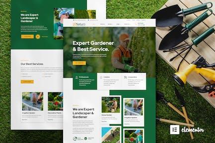 Naturn — Template Kit arit d'élémentor pour le paysage et le jardinage