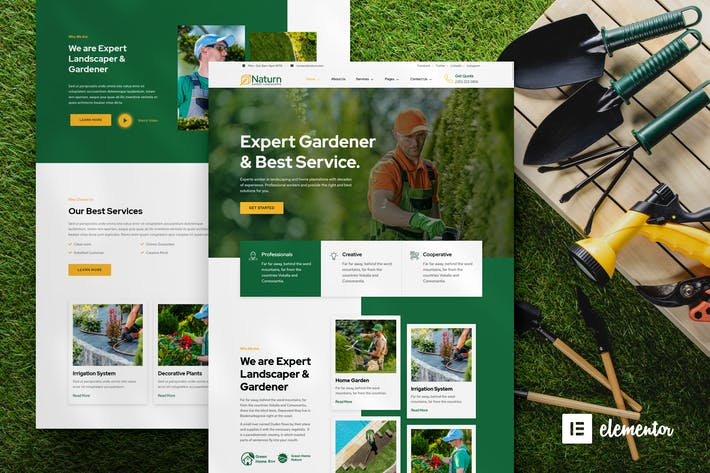 Thumbnail for Naturn – Landscape & Gardening Elementor Template Kit