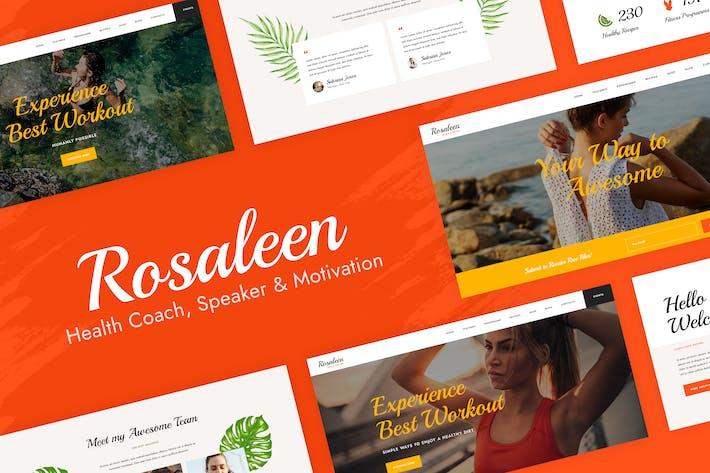 Rosaleen - Health Coach & Motivational Speaker Elementor  Template Kit