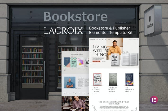 LaCroix — Template Kit Elementor de Autor y Editor