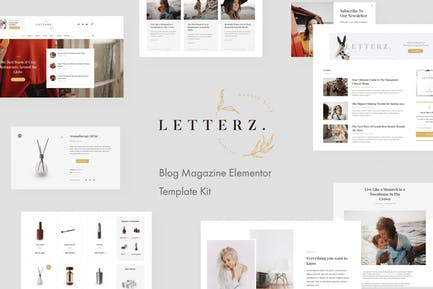 Letterz - Blog Magazine Elementor Template Kit