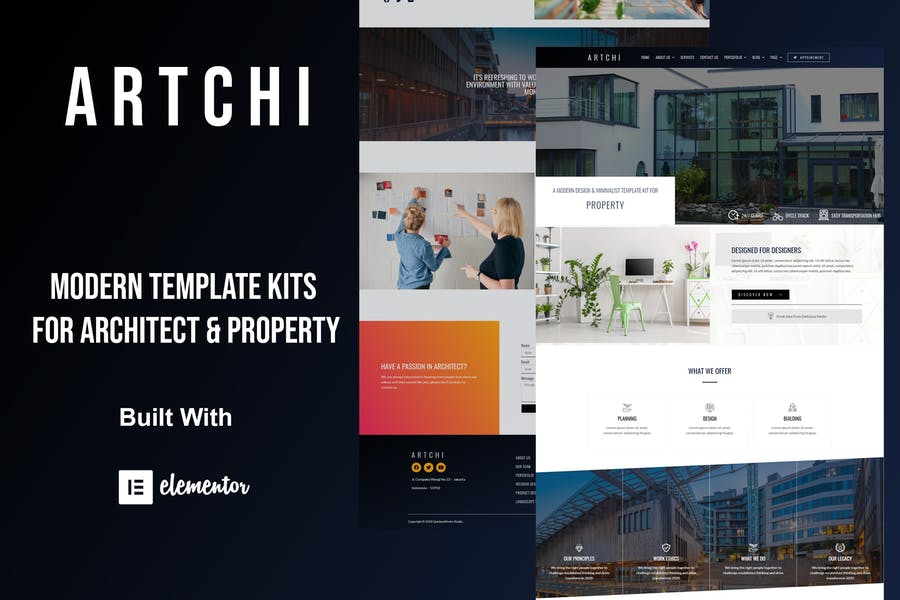 Artchi - Template Kit de elementos de arquitectura moderna
