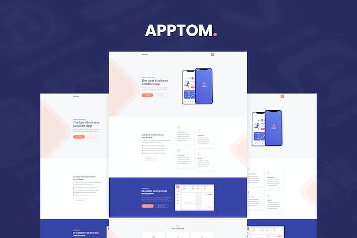 Thumbnail for Apptom - App & Software Showcase Elementor Template Kit