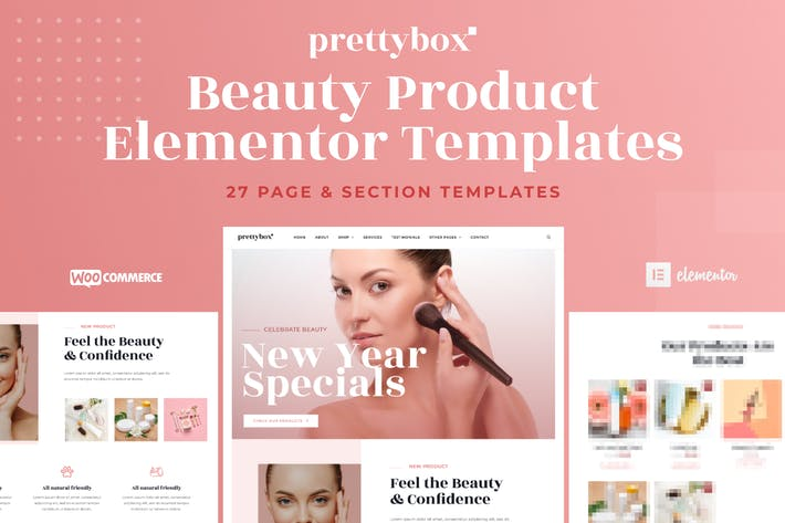 Thumbnail for Prettybox - Cosmetic & Beauty Products Shop Elementor Template Kit