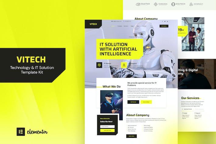 Vitech - Technologie & IT Lösung Elementor Template Kit