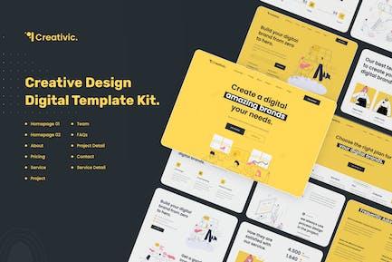 Creativic - Creative Agency Elementor Template Kit
