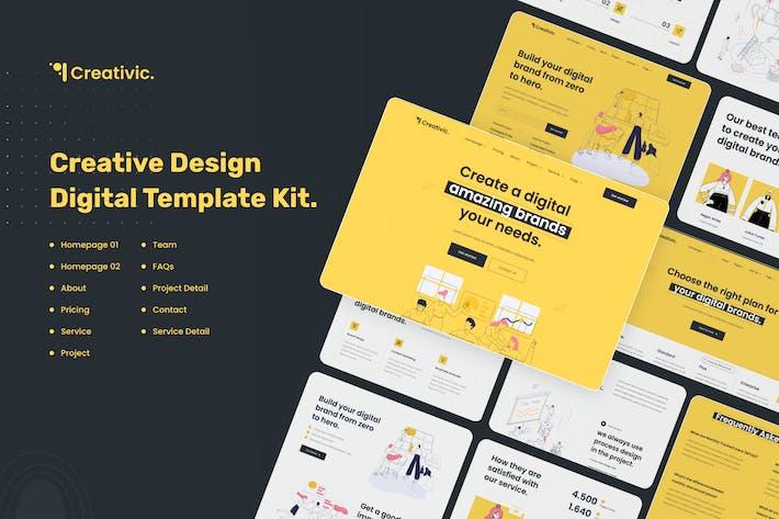 Thumbnail for Creativic - Creative Agency Elementor Template Kit
