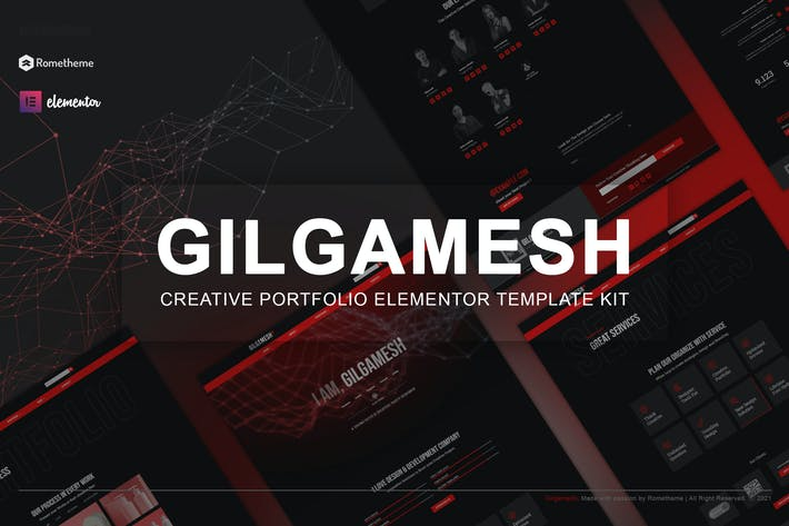 Thumbnail for Gilgamesh - Creative Portfolio Elementor Template Kit