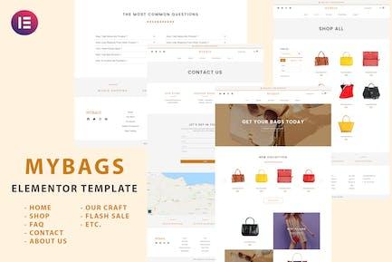 Mybags - Modern Commerce Elementor Template Kit