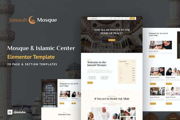 Jamaah - Elementor-Template Kit für Moschee und Islamisches Zentrum
